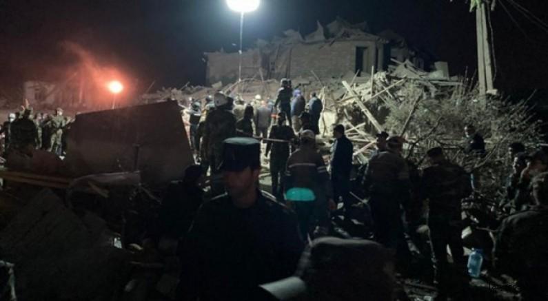Ermenistan sivilleri vurdu! Binalar yerle bir oldu, çok sayıda can kaybı var