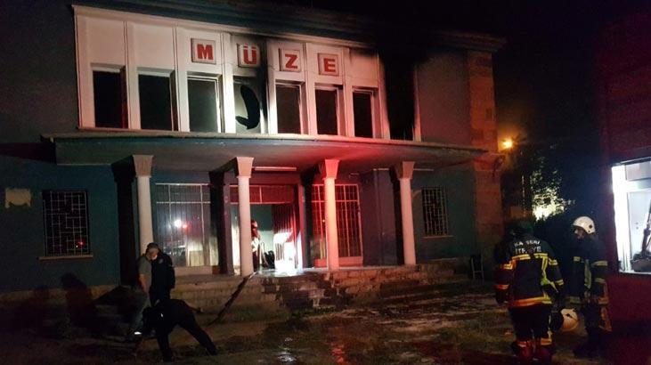 Kayseri'de, eski Arkeoloji Müzesi'nde yangın